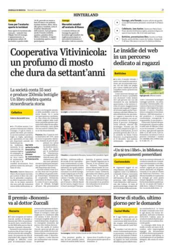 Giornale di Brescia 12 Novembre 2019