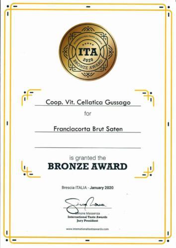 ITA2020 BronzeAward Saten