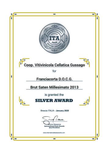 ITA2020 SilverAward Millesimato